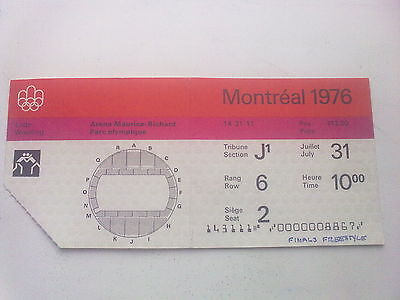 Ticket Olympic Games MONTREAL 31.07.1976 - WRESTLING (10:00)