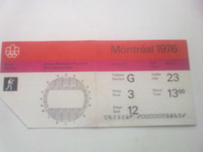 Ticket Olympic Games MONTREAL 23.07.1976 - BOXING (13:00)