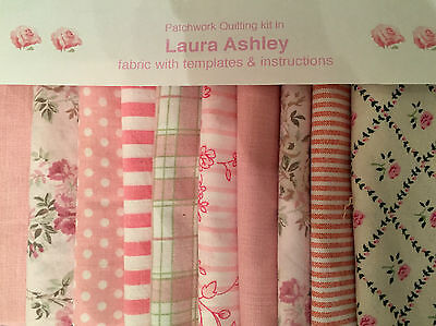 LAURA ASHLEY FABRIC 'KATE' PATCHWORK QUILTING KITS +INSTRUCTIONS -CHOICE of SIZE