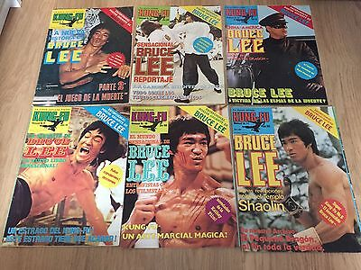 Lot X 6 Bruce Lee Spanish Kung Fu Montly Posters Gigants