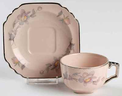 American Limoges SILVER MOON PINK BACKGROUND Demitasse Cup & Saucer 2267707