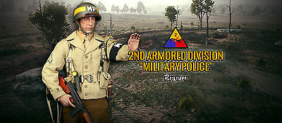 """DID A80116 WWII US 2nd Armored Division Military Police """"Bryan"""" 1/6 Figuren"""