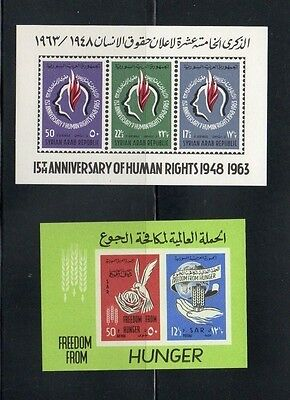 Syria.two 1963 Mini Sheets Mnh .imperf