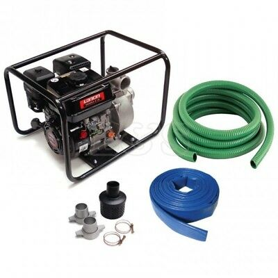 "Loncin 5.5HP 2"" (50mm) Water Pump & Hose Kit"