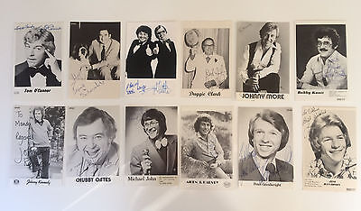 12 Original  Hand Signed Autographs - Comedians & Impersonators - 1970's