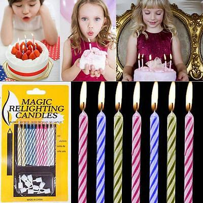 Kids Birthday Cake Trick Toys Relighting Funny Magic Candles
