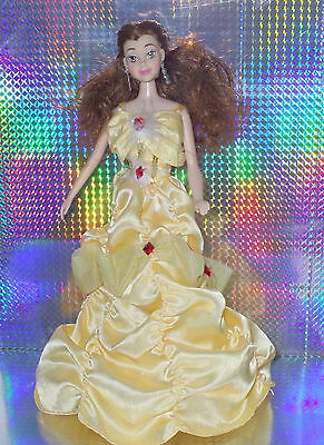 Disney Princess belle Beauty and the beast dressed Doll with shoes VGC.