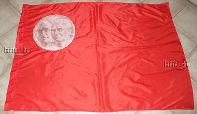 communist East german SED Flag with first President of the GDR + Ernst Thälmann