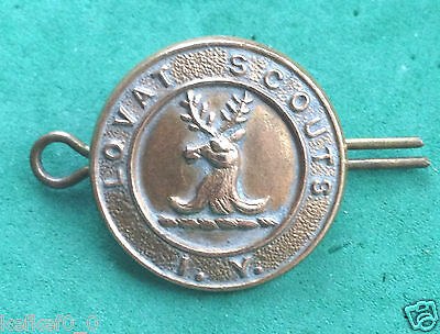 Lovat's Scouts Imperial Yeomanry Brass Cap Badge
