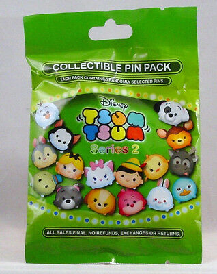 Disney Pin Collectible TSUM SERIES 2  Mystery Pack Randomly SEALED Set of 5 NEW