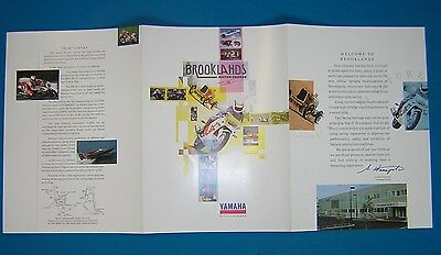Yamaha Mitsui 'Welcome To Brooklands' Literature. Original New