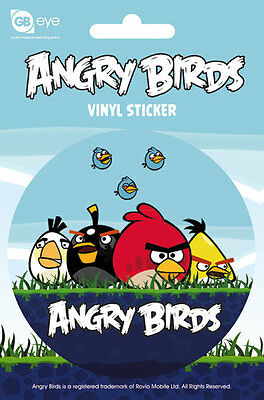 Vinyl Sticker / Aufkleber - ANGRY BIRDS - Group (Game) - Rund ca9cm SK035 NEU