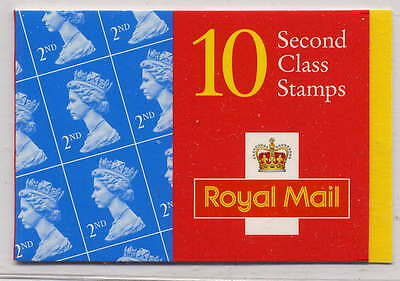 GB 1997 10 x 2nd CLASS STAMPS BARCODE BOOKLET HC19