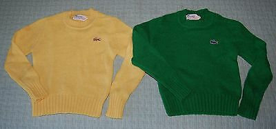 Set of 2 Vintage Izod Lacoste For Girls 100% Virgin Wool Sweaters, Size Small