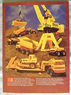 1985 Magazine Advertisement Page Revell Digger Dan Construction Company Toys Ad