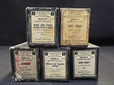 (5) Ampico Piano Rolls June Night / Why, Dear? & 3 More Titles (#30)