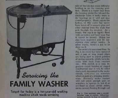Vintage c1940 Easy Spindrier Washing Machine servicing 1949 How-To INFO Murray