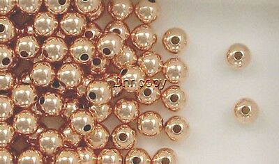 12k Rose Gold Filled 6mm Round Seamless Spacer Beads, Choice of Lot Size & Price