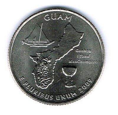 2009-D Brilliant Uncirculated Guam Quarter Coin!