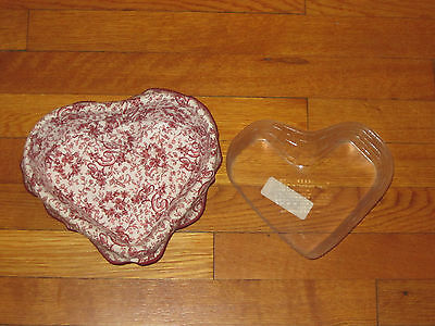 1999 Love Letters Longaberger Basket with Fabric Liner & Protector Excellent