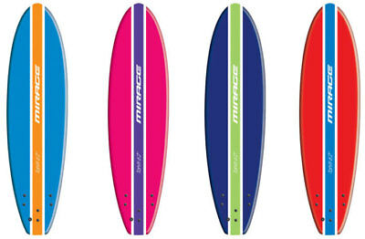 Mirage Soft Surfboard - Tahiti 7 foot 10 inch in Dark Blue, Pink, Red