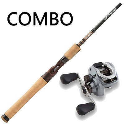 Baitcaster fishing combo - Shimano Raider Barra Magnum 1pc rod with Curado 7....