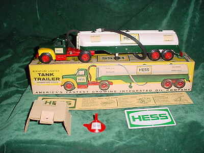 64 Antique Christmas Collectable  Marx  Hess Trucks 1964 Toy Tanker Truck Toys