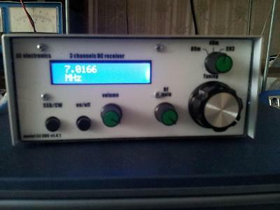 3 band communication receiver kit with frequency counter and 20m plug-in,QRP.