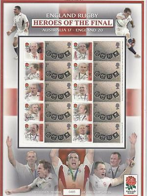 Gb- England Rugby Heroes Of The Final Australia 17-England 20 Smilers Sheet