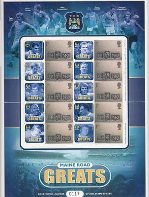 Gb-  Maine Road Great Manchester City Mnh Smilers Sheet Po Fresh