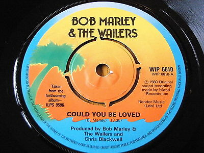 """Bob Marley & The Wailers - Could You Be Loved  7"""" Vinyl"""
