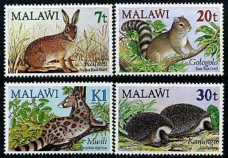 MALAWI Sc.# 442-45 Small Animals Mint NH Stamps