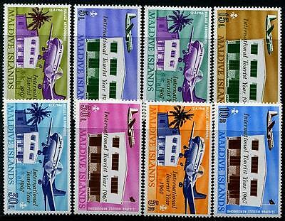 MALDIVES Sc.# 221-28 Hulule Airport Mint NH Stamps