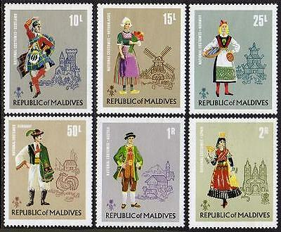 MALDIVES Sc.# 383-88 Costumes Mint NH Stamps