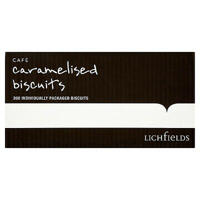 Lichfields Caramelised Biscuits x 200 Packs Retail, Office, Hotels, Coffee