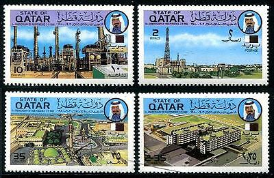 QATAR Sc.# 579-82 1980 Oil Industry & Hospitals Mint NH Stamps