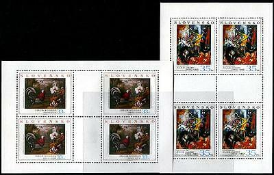 SLOVAKIA Sc.# 465-66 Art 2004 Paintings Stamp Sheets