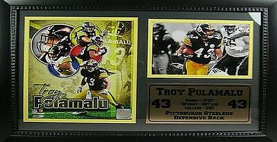 Troy Polamalu,Pittsburgh Steelers NFL Football,50 cm Wall picture,Memorabilia