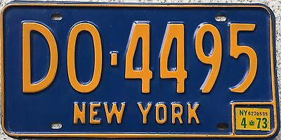 GENUINE American New York Blue USA License Licence Number Plate DO 4495