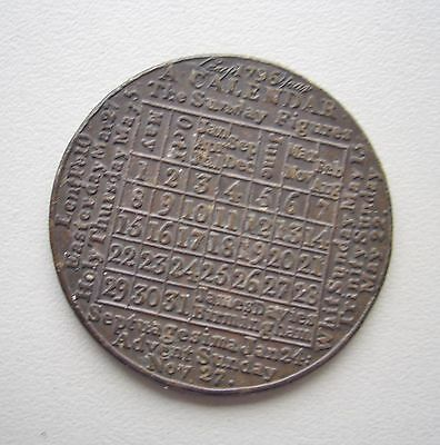 UK, 1796 Leap Year Calendar Medal ,Very Fine condition, 37.6  mm Diameter