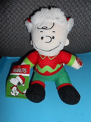 "NWT MUSICAL CHARLIE BROWN PEANUTS PLUSH  9"" CHRISTMAS Figure Toy"