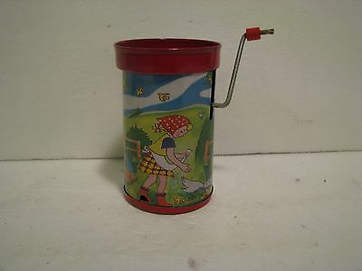 Vintage  CRANK  Noisemaker New Years Party Round Cylinder 3 1/2 INCH