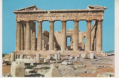 Athens. The Parthenon. 1980 postcard in Fair Condition. Written & posted