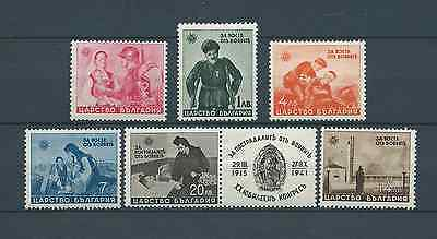 BULGARIE - 1942 YT 400 à 405 - TIMBRES NEUFS** LUXE