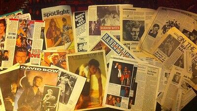 David Bowie Clipping Scrapbook 1980s 1990s 60 + Pages RARE Iman TIN MACHINE ,