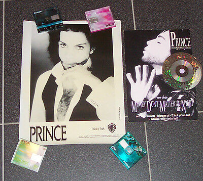 Vintage Promo Display Money Don't Matter 2 Night Poster Prince Paisley Park 1991