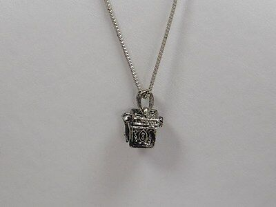 Pandora Box Necklace Silvertone
