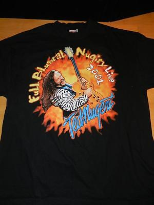 TED NUGENT Full Bluntal Nugity 2001 CONCERT SHIRT T-SHIRT Extra Large XL Blk