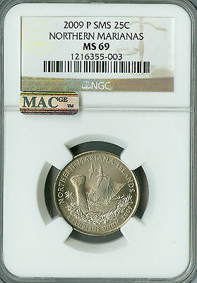 2009-P Northern Marianas Quarter Ngc Mac Ms69 Sms Finest Registry Spotless *