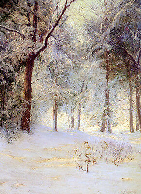 Handmade Oil Painting repro Walter Launt Palmer Sunshine After Snow